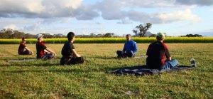 My teacher, demonstrating betterment of character through meditation