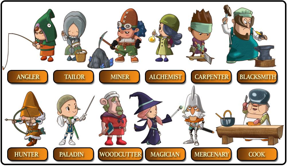 All twelve lifes in Fantasy Life